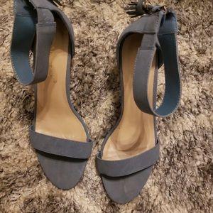 Baby Blue Tassel Block Heel // Allegra K